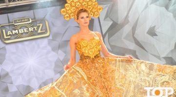 Model Anja Franz bei der Fashion-Show
